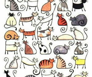 cat, animal, and wallpaper image