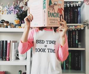 books, bookworm, and fall image