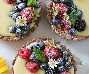 food, berries, and tart image