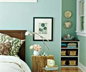 bedroom, home decor, and mint image