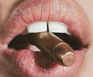 bullet, lips, and mouth image