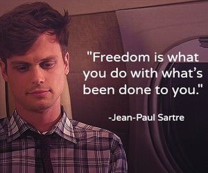criminal minds, freedom, and quote image