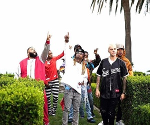 justinbieber, lilwayne, and migos image