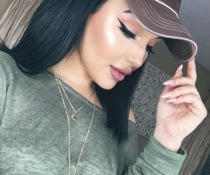 makeup, beauty, and outfit image