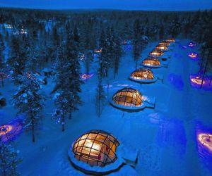 finland, snow, and igloo image