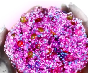 glitter, pink, and slime image