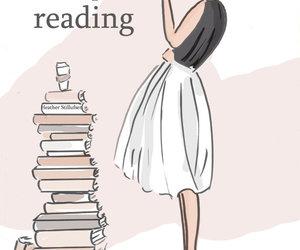 books, art, and girl image