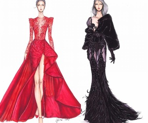 art, black, and Couture image
