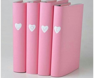 pink, book, and love image