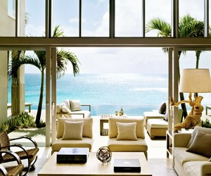 house, home, and sea image