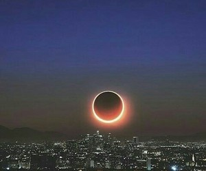 beautiful, eclipse, and moon image