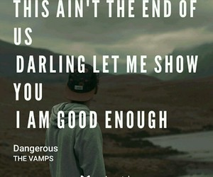 Lyrics, the vamps, and tristan evans image