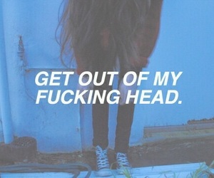 grunge, quote, and head image