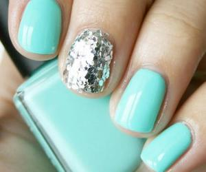 blue, teal, and nail image
