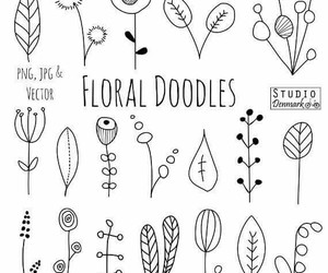 doodle, floral, and notes image