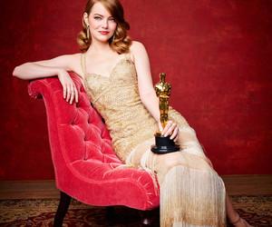 emma stone, oscar, and actress image