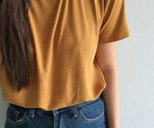 style, yellow, and outfit image
