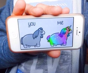 colors, iphone, and unicorn image