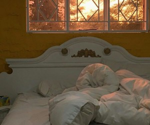 bed, grunge, and vintage image