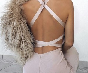 pink, fashion, and low back image