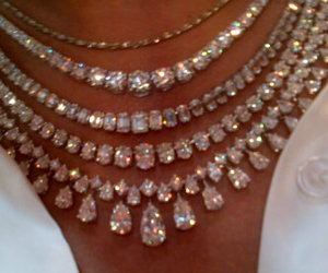 diamond, necklace, and jewelry image