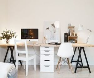 desk, interior, and decor image