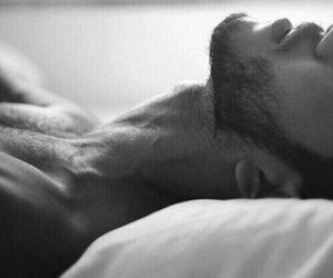 beard, bed, and boy image