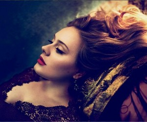Adele, beauty, and red lips image