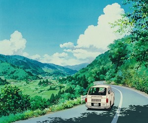 anime, ghibli, and background image