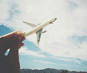 airplane, sky, and photography image