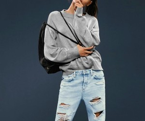 backpack, casual, and denim image