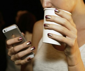 iphone, manicure, and mood image