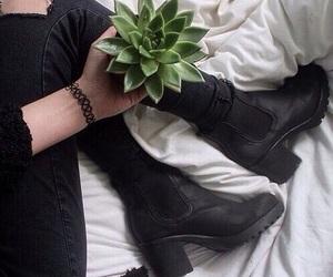 black, grunge, and plants image