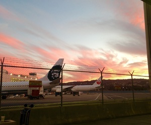 airplanes, airport, and beautiful image