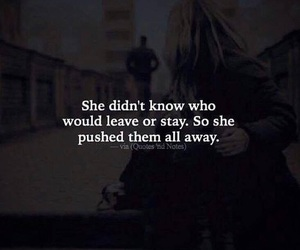 away, hurt, and quote image