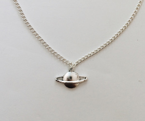 necklace, planet, and saturn image