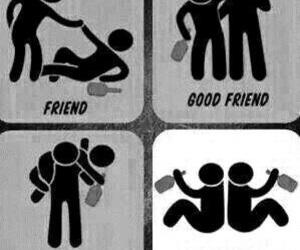 friends, best friends, and drunk image