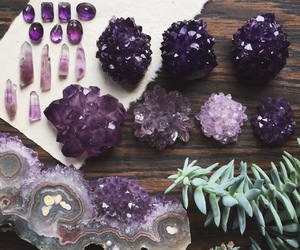 crystal, amethyst, and purple image