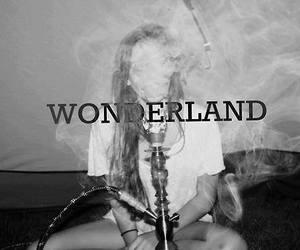 wonderland, smoke, and weed image