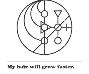 hair, spell, and witchcraft image