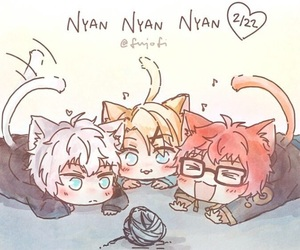 cat, unknown, and yoosung image