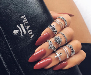 nails, Prada, and rings image