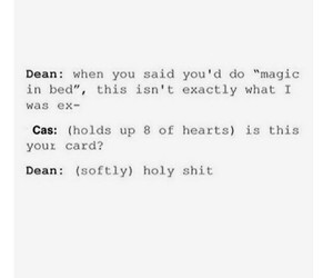 dean winchester, supernatural, and destiel image