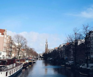 amsterdam, city life, and travel image