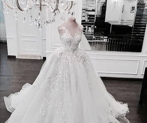dress, luxury, and wedding image