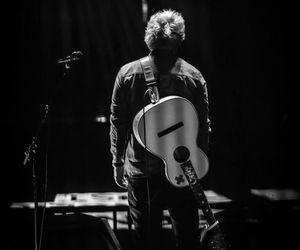 ed sheeran, guitar, and black and white image