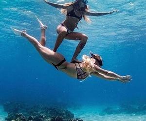 beach, friendship, and ocean image