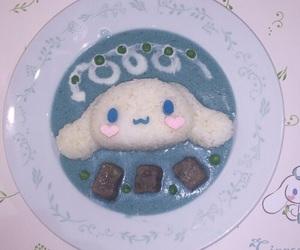 blue, cinnamoroll, and food image