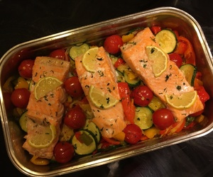 cooked, delicious, and fish image