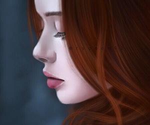 beautiful woman, digital art, and fan art image